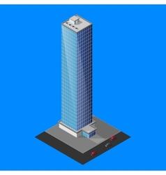 isometric skyscraper building vector image vector image