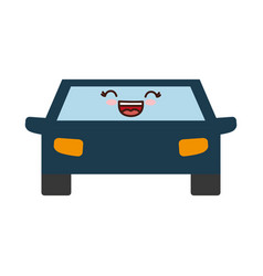 Kawaii car icon image vector