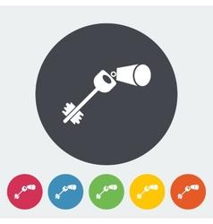 Key flat icon vector image