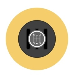 Manual transmission flat icon vector
