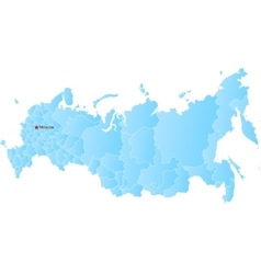 New map of the Russian Federation and Crimea vector image vector image