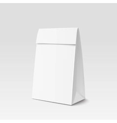 Paper bag package for advertising and branding vector