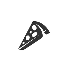 Pizza Icon logo on white background vector image