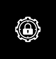 Protection target icon flat design vector