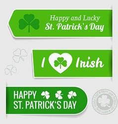 Saint Patricks day tags vector image vector image