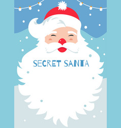 Secret santa present exchange game poster vector