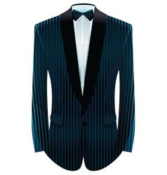 striped tuxedo vector image vector image