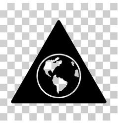 terra triangle icon vector image