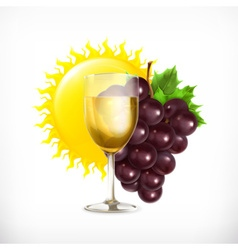 Winery isolated vector