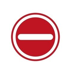 Road sign security street transportation icon vector