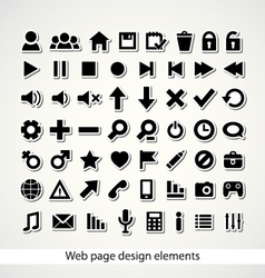 Web page design elements vector