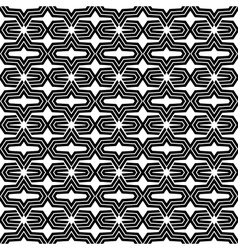 An elegant black and white pattern vector