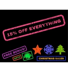 15 percent off everything rubber stamp vector