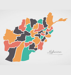 afghanistan map with states vector image