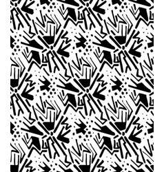 Abstract seamless pattern linear hand drawn motif vector