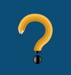 Concept pencil and question mark vector