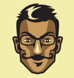 Hipster head vector