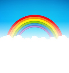 Color rainbow with cloud vector