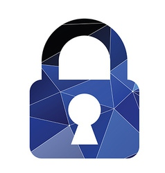 Lock icon abstract triangle vector