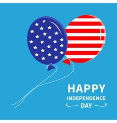 Ballon happy independence day vector