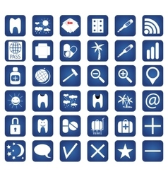 Set of 36 quality icon for you design vector