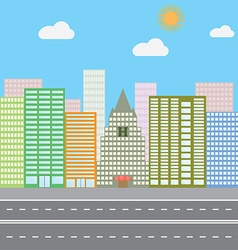 Flat design concept for urban landscape city vector