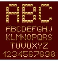 3d gold alphabets letters vector image