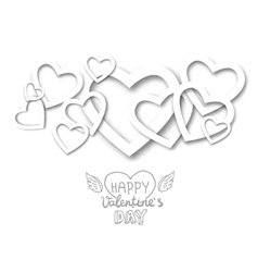 paper heart banner vector image