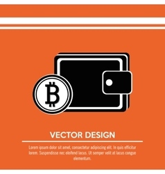 Bit coins design vector