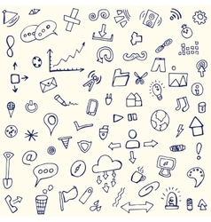 doodle icons arrows for the site vector image