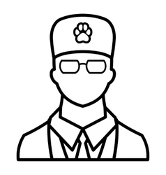 Veterinarian icon outline style vector