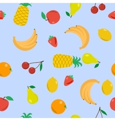 Seamless - fruits on blue vector
