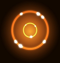 Abstract background with orange circle vector image