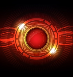 abstract hi tech button vector image vector image