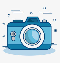 Blue camera icon vector