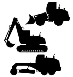 Car equipment for road works 02 vector