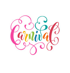 carnival wording isolated vector image