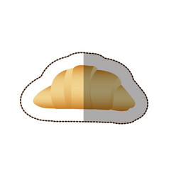 Colorful croissant bread icon vector