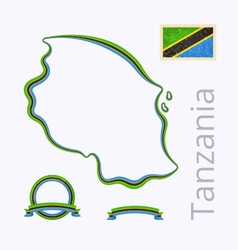 Colors of tanzania vector