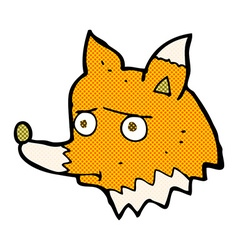 comic cartoon unhappy fox vector image