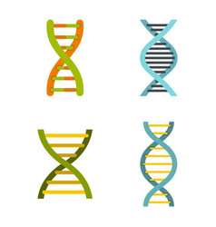 dna icon set flat style vector image