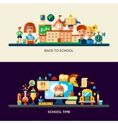 Education website header banner with webdesign vector image vector image