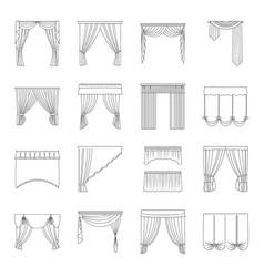 Fabric textiles interior and other curtains vector