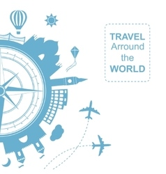 Famouse places Travel arround the world vector image