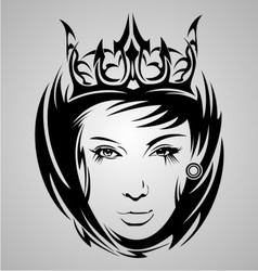 Girl Face Tribal vector image