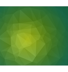 Green abstract polygonal background with geometric vector image