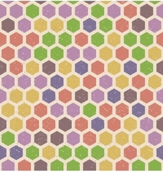 hexagon retro seamless pattern vector image vector image