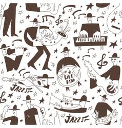 Jazz musicians -seamless background vector