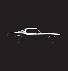 Muscle car silhouette vector