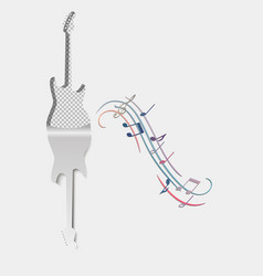 Music background guitar musical acoustic vector